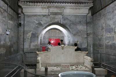 Ming Dynasty tomb outside Beijing. Dingling is the mausoleum of Emperor Shenzong Zhu Yijun and his empresses. This is part of the Underground Palace.