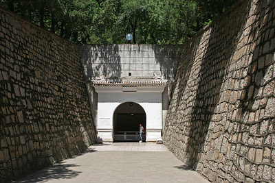 Ming Dynasty tomb outside Beijing. Dingling is the mausoleum of Emperor Shenzong Zhu Yijun and his empresses. This is part of the exit from the Underground Palace.