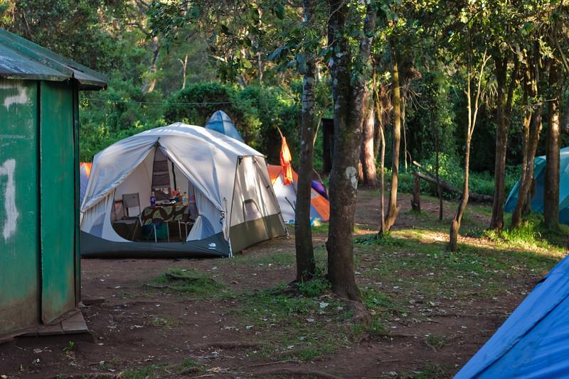 First night camp. Mti Mkubwa Camp Site.