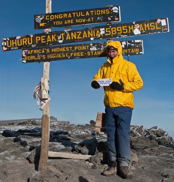 Day six hike. Uhuru Peak. Rick.