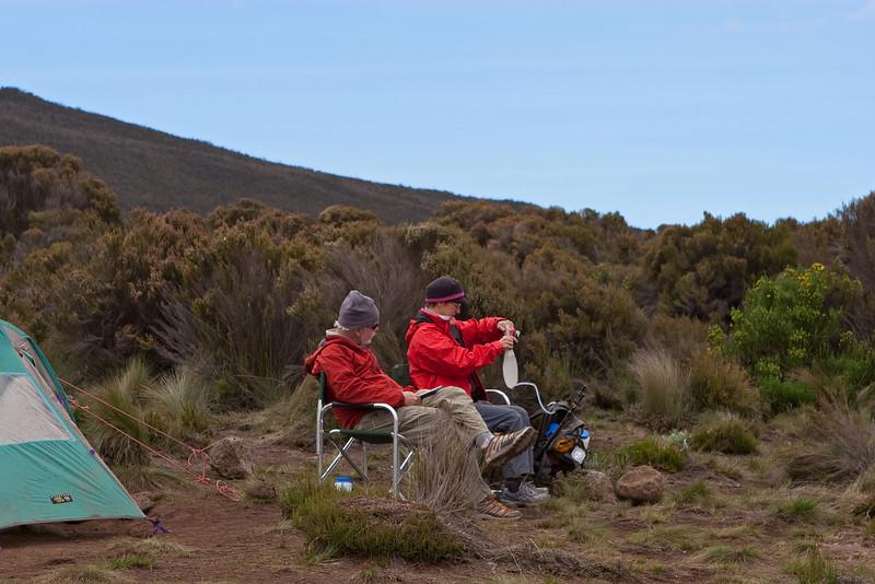 Dan and Liz. Approaching sunset. Day two hike. Shira Camp 1.