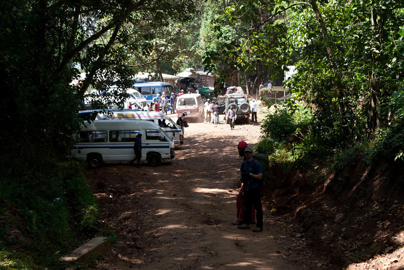 Day seven hike. Mweka Gate.
