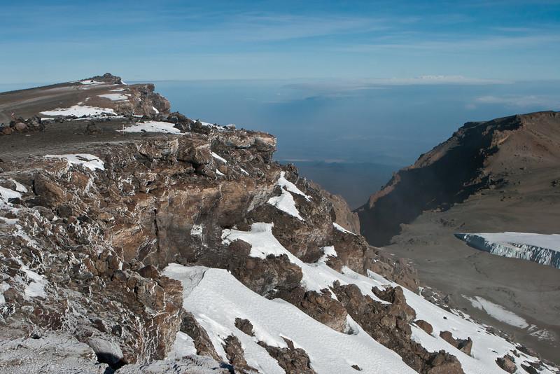 Day six hike. Mt. Kibo crater. Western Breach.
