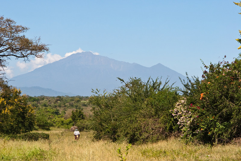 Travel to start of hike from Moshi. Mt. Meru.