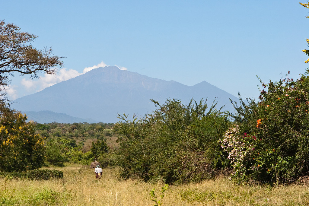Travel to start of hike from Moshi. Mt. Meru.