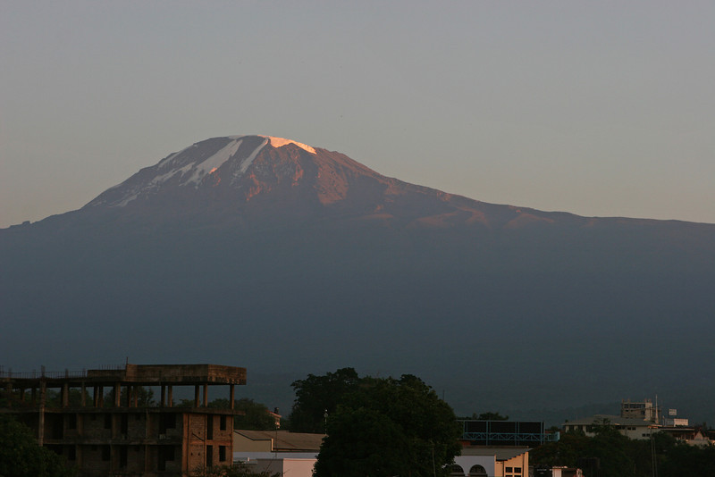 "Sunrise from Hotel Kindoroko in Moshi.  <a href=""http://www.kindorokohotels.com/"">http://www.kindorokohotels.com/</a>"