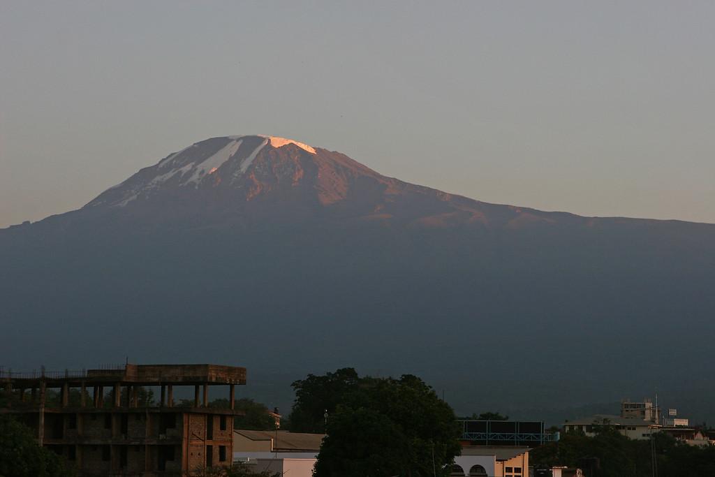 "Sunrise from Hotel Kindoroko in Moshi.  <a href=""http://www.kindorokohotels.com/"">http://www.kindorokohotels.com/</a>"