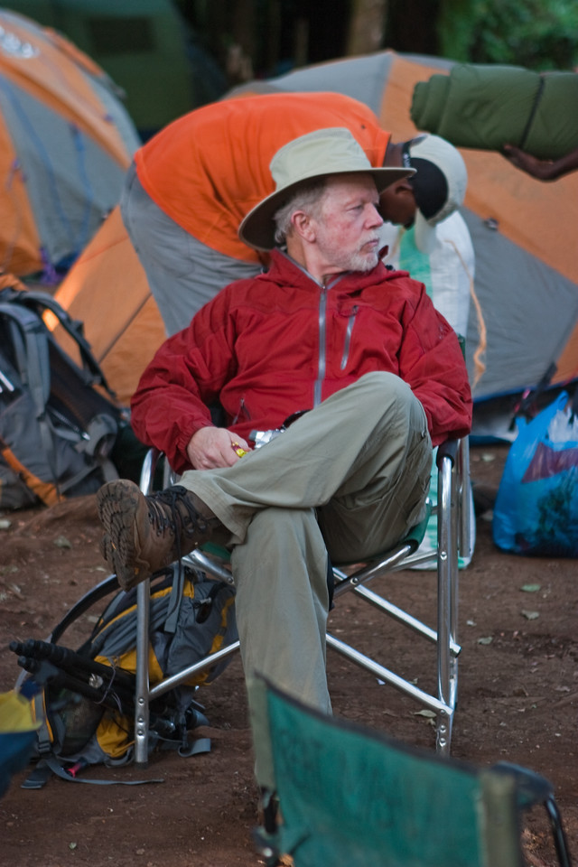 Dan. First night camp. Mti Mkubwa Camp Site.