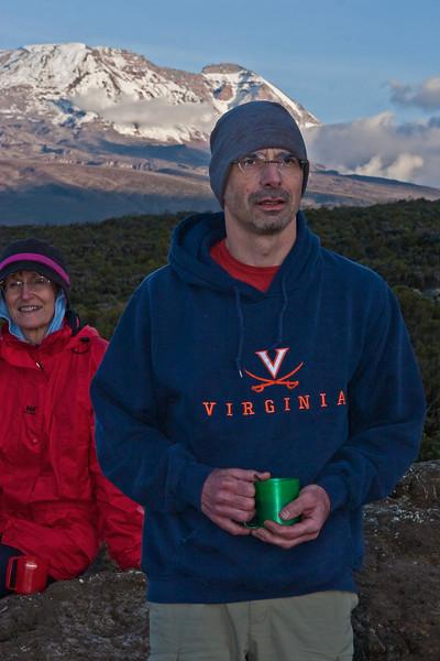 Tony. Approaching sunset. Day two hike. Shira Camp 1.