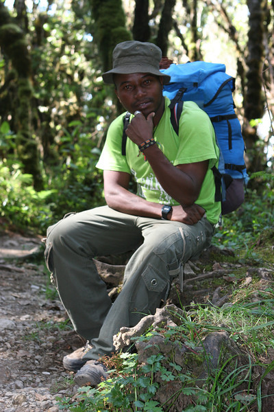 Day seven hike. Heading for Mweka Gate.