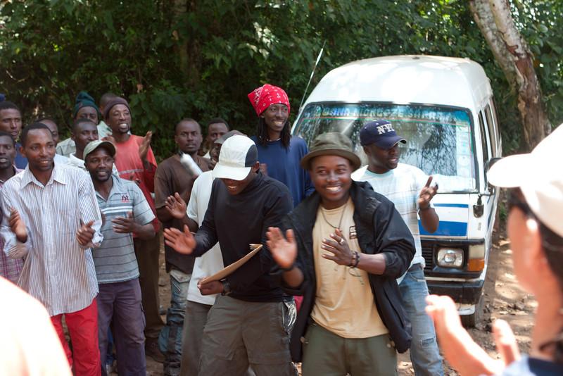 Day seven hike. Mweka Gate. The crew.