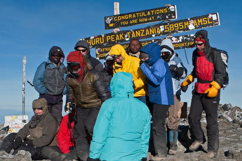 Day six hike. Uhuru Peak.