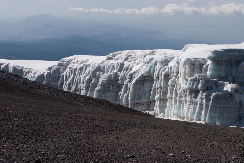 Day six hike. Glaciers from crater rim trail.