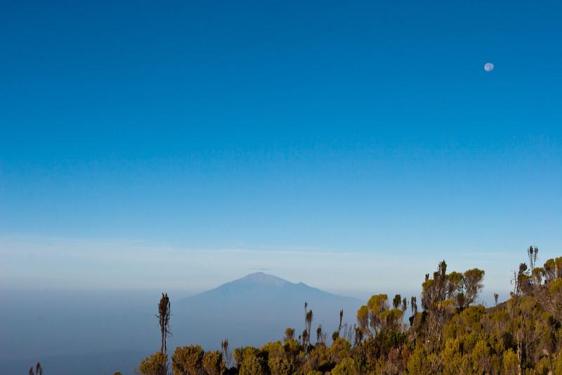 Day seven hike. Heading for Mweka Gate. Mt. Meru.