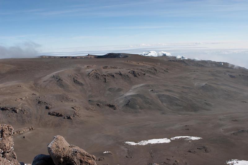 Day six hike. Mt. Kibo crater.