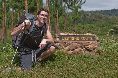 Mike Moore at the beginning of the Lemosho Route up Mount Kilimanjaro.