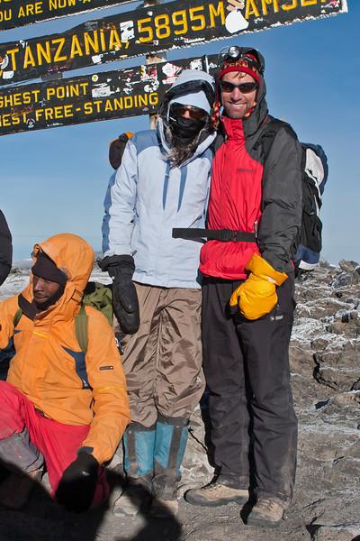 Day six hike. Uhuru Peak.  Devon and Allan.