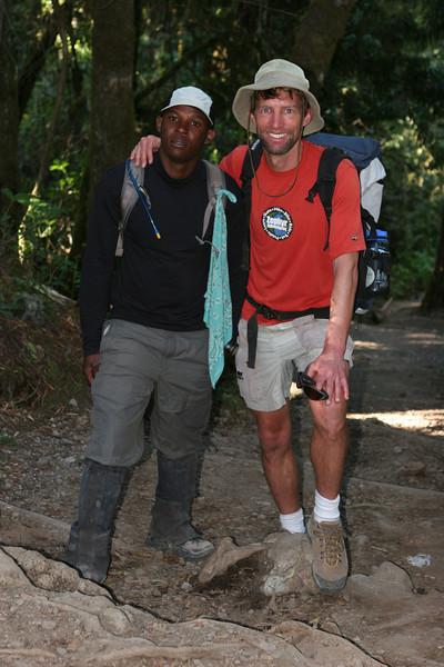 Day seven hike. Heading for Mweka Gate.