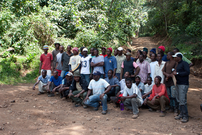 Day seven hike. Mweka Gate. The crew.