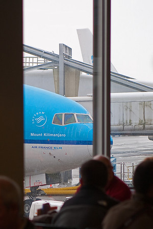 Amsterdam Airport - our flight to Tansania.