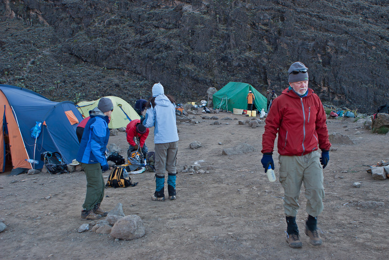 Day five hike. Departing Barranco Camp.