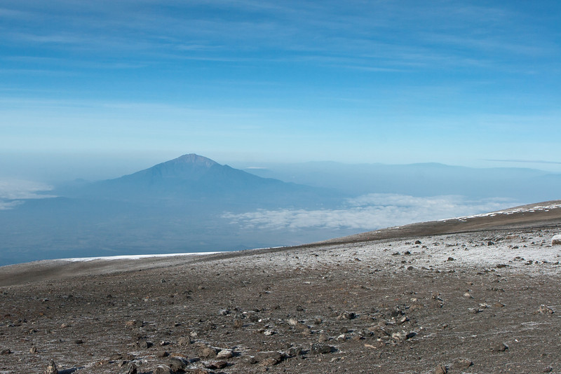 Day six hike. Mt. Meru from crater rim trail.
