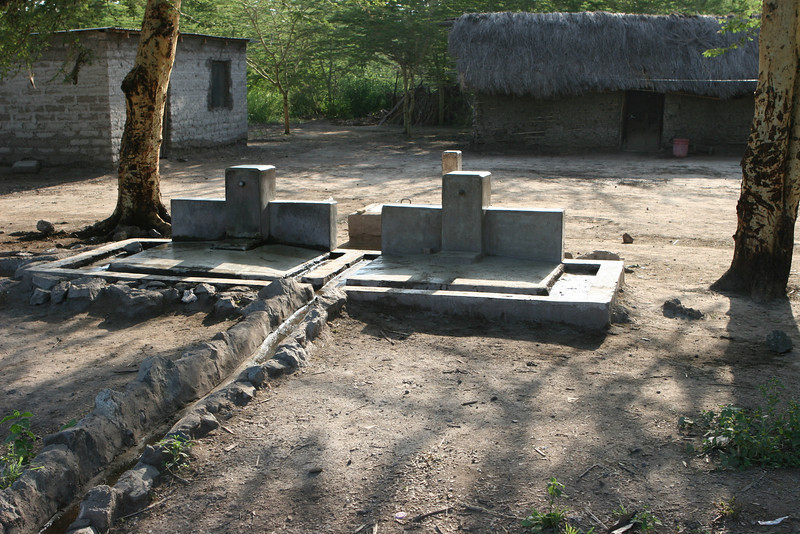 Water supply for the tiny Migunga Village up the road from the Forest Camp just east of  Lake Manyara National Park.
