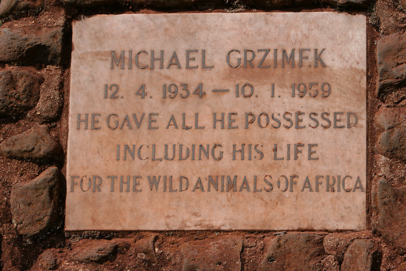 "Along route b-144, southwest of the Ngorongoro Crater. Grave marker for Michael Grzimek and his father. <a href=""http://www.serengeti.org/p_grzimek_m.html"">http://www.serengeti.org/p_grzimek_m.html</a>"