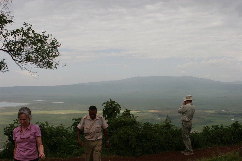 Route B-144 road side turn off overlooking the Ngorongoro Crater.