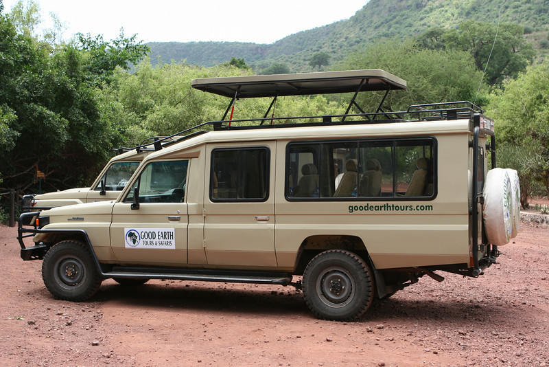 Our two transports at Lake Manyara National Park.