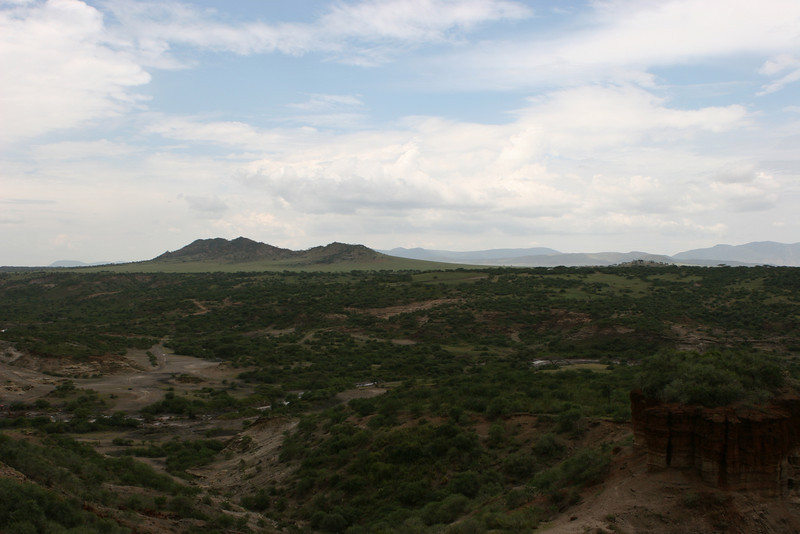 Oldupai (Oldevia) Gorge from the museum building to the northeast.