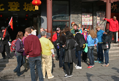 ENCSS/RAB/DNR. March 17, 2013.  Trip to the Great Wall, Badaling, China ( http://www.badalinggreatwall.com/ ). The group waiting for tickets.
