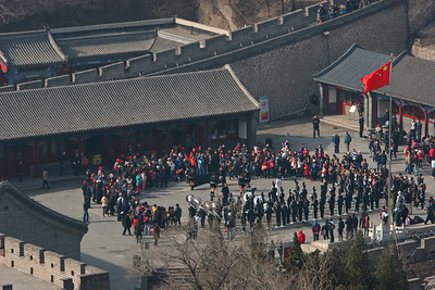 ENCSS/RAB/DNR. March 17, 2013. Trip to the Great Wall, Badaling, China ( http://www.badalinggreatwall.com/ ). Marching band from ?