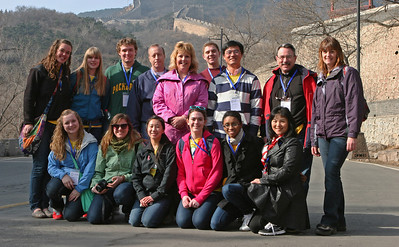 ENCSS/RAB/DNR. March 17, 2013. Trip to the Great Wall, Badaling, China ( http://www.badalinggreatwall.com/ ). L-R front: Lauren Rose Czarapata, Michelle Scarpace, Lauren Jiajie Gonitzke, Alexa Leigh Temme, Kyra AdreniaLanae Seay, Mei Li, L-R back: Tess Michelle Haverkamp, Kelly Rose Zimmerman, Zachary Schneekloth, Gary Vaughan, Cathy Stepp, Luke Oneill, Xiaodong Kuang, Jack Palmer, Nancy Jeanne Esveld.