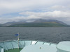 Arran over the bow of CALEDONIAN ISLES.<br /> 27th May 2008