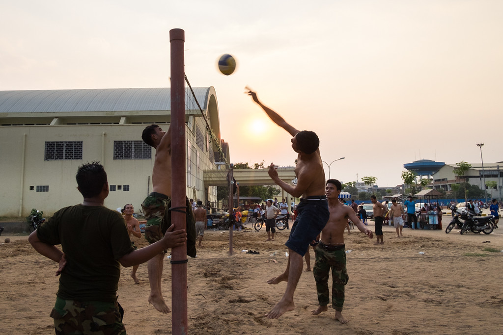 Volleyball at Olympic Stadium, Phnom Penh