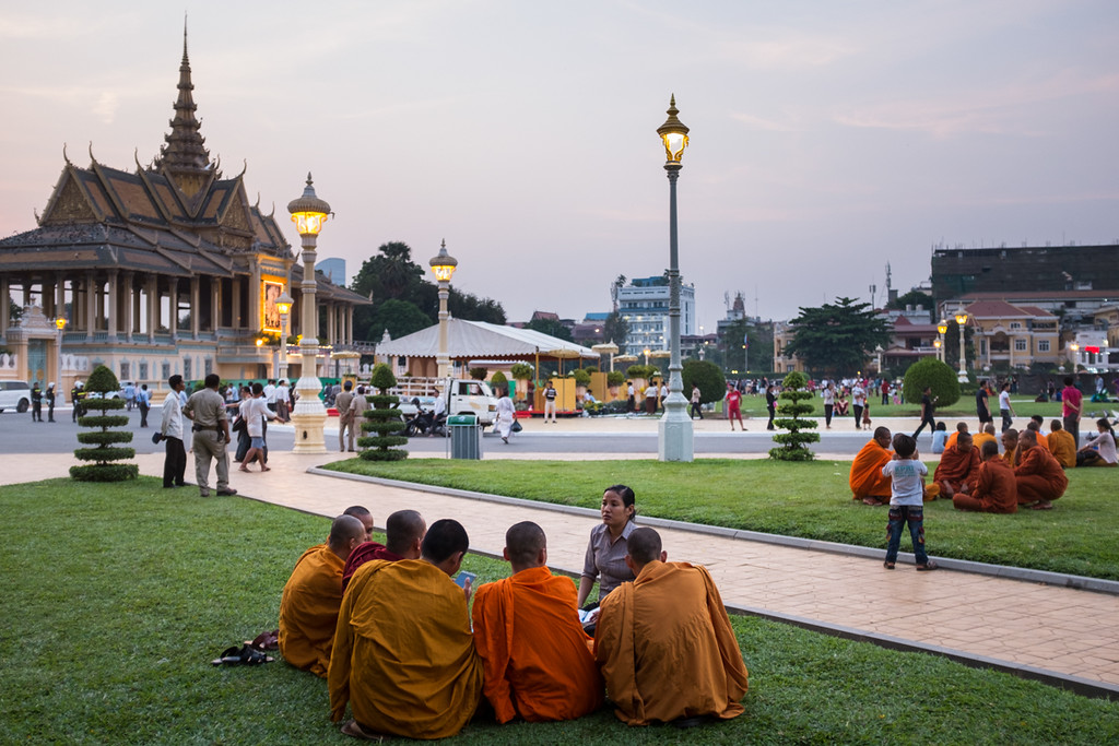 Royal Palace at Sunset, Phnom Penh