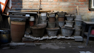 Pots, NeiWuBu Street Hutong, Dongcheng, Beijing