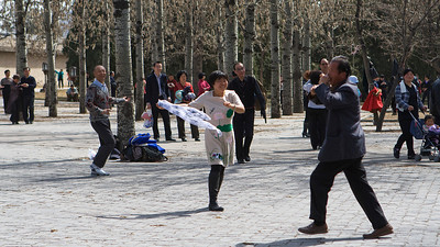 Virtual Flautist, Tiantan Park, Beijing