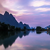 Yulong river at dusk