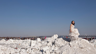 Ice Maiden, Songhua River, Harbin, Heiliongjiang Province, China