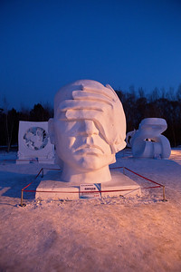 Sculpture 2, Snow Festival, Harbin, Heiliongjiang Province, China