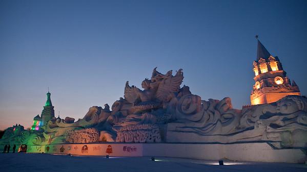 Snow Festival, Harbin, Heiliongjiang Province, China
