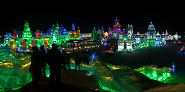 Ice and Snow Festival Panorama, Harbin, Heiliongjiang Province, China