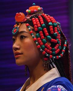 Tibetan Woman, Jiuzhaigou, Sichuan
