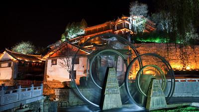 Water Wheels, Lijiang Old Town, Yunnan