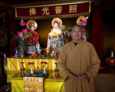 Buddhist Monk, Black Dragon Pool Park, Lijiang