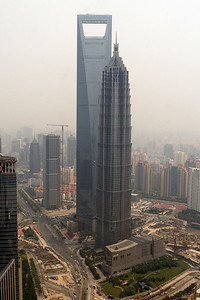 Jin Mao Tower and Shanghai World Finance Centre, Pudong