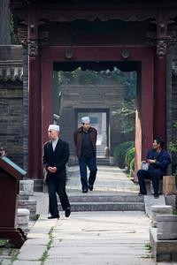Worshipers, Great Mosque, Muslim Quarter, Xian