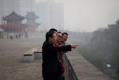 Tourists, City Wall, Xian